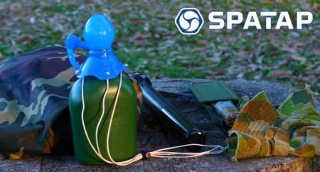 SpaTap-camping-shower-family-camp eco feindly child friendly camp shower bottle tap toothbrush outdoor tap dog wash watering doin the dishes beach shower extreme spatapping go green 2girls 1 spatap meta bottle plastic pollution 10 litre bottle 1 hour shower 4wd soap caddy shower cubicle survival tap